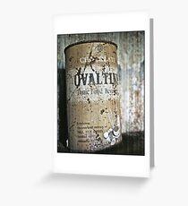 Ovaltine tin Greeting Card
