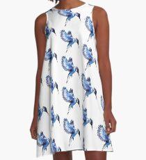 Kingfisher - colour version A-Line Dress