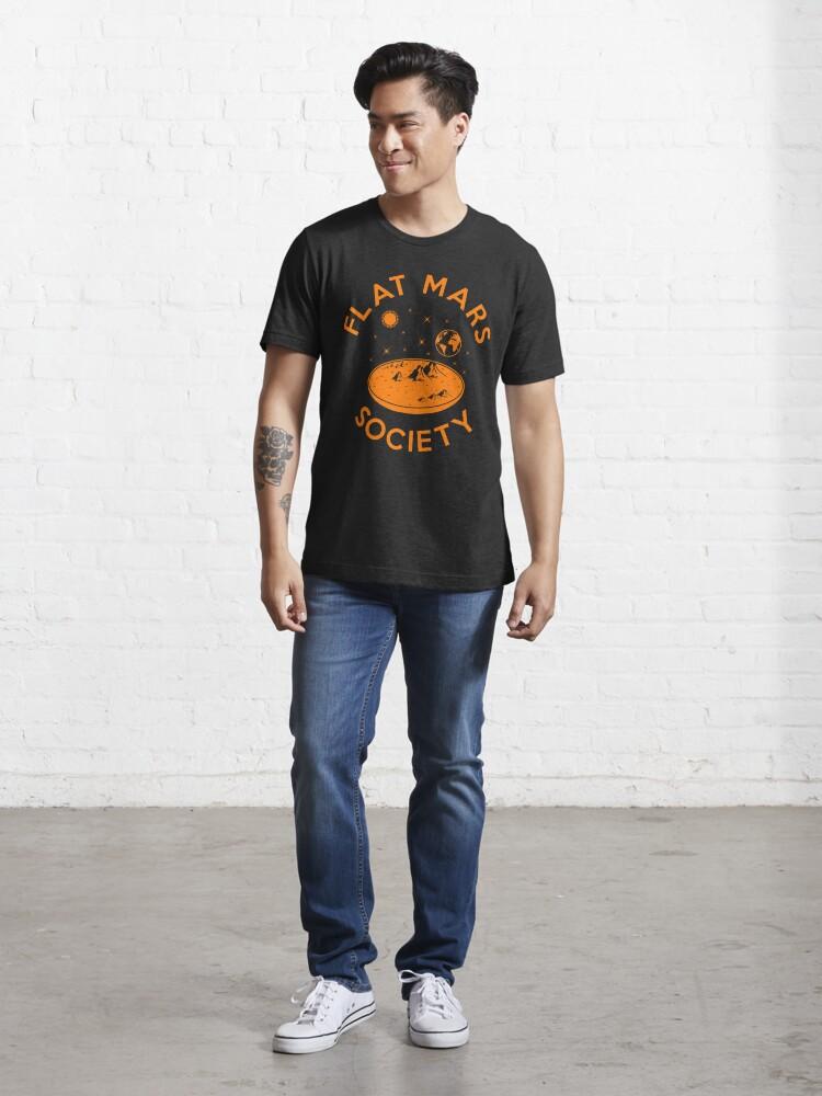 Alternate view of Flat Mars Society Essential T-Shirt