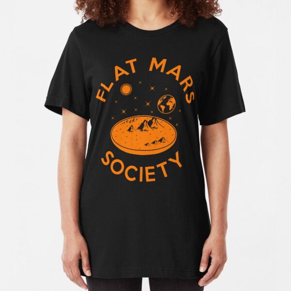 Flat Mars Society Slim Fit T-Shirt