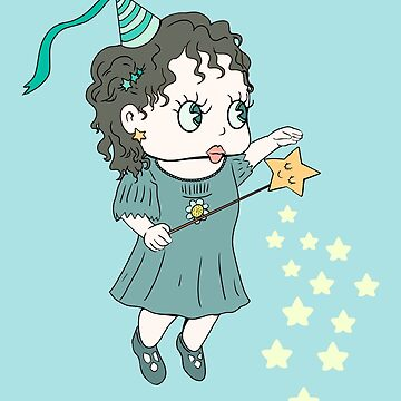 Cute Little Fairy Sara With stars by MimieTrouvetou