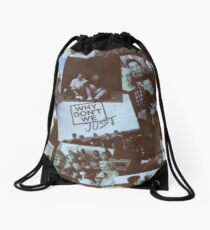 why dont we blure Drawstring Bag
