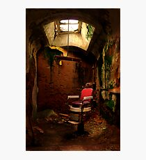 Prison barber shop Photographic Print