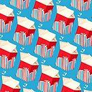 Milk Pattern - Blue by Kelly  Gilleran