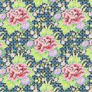 Kimono Bouquet Brocade by PatriciaSheaArt