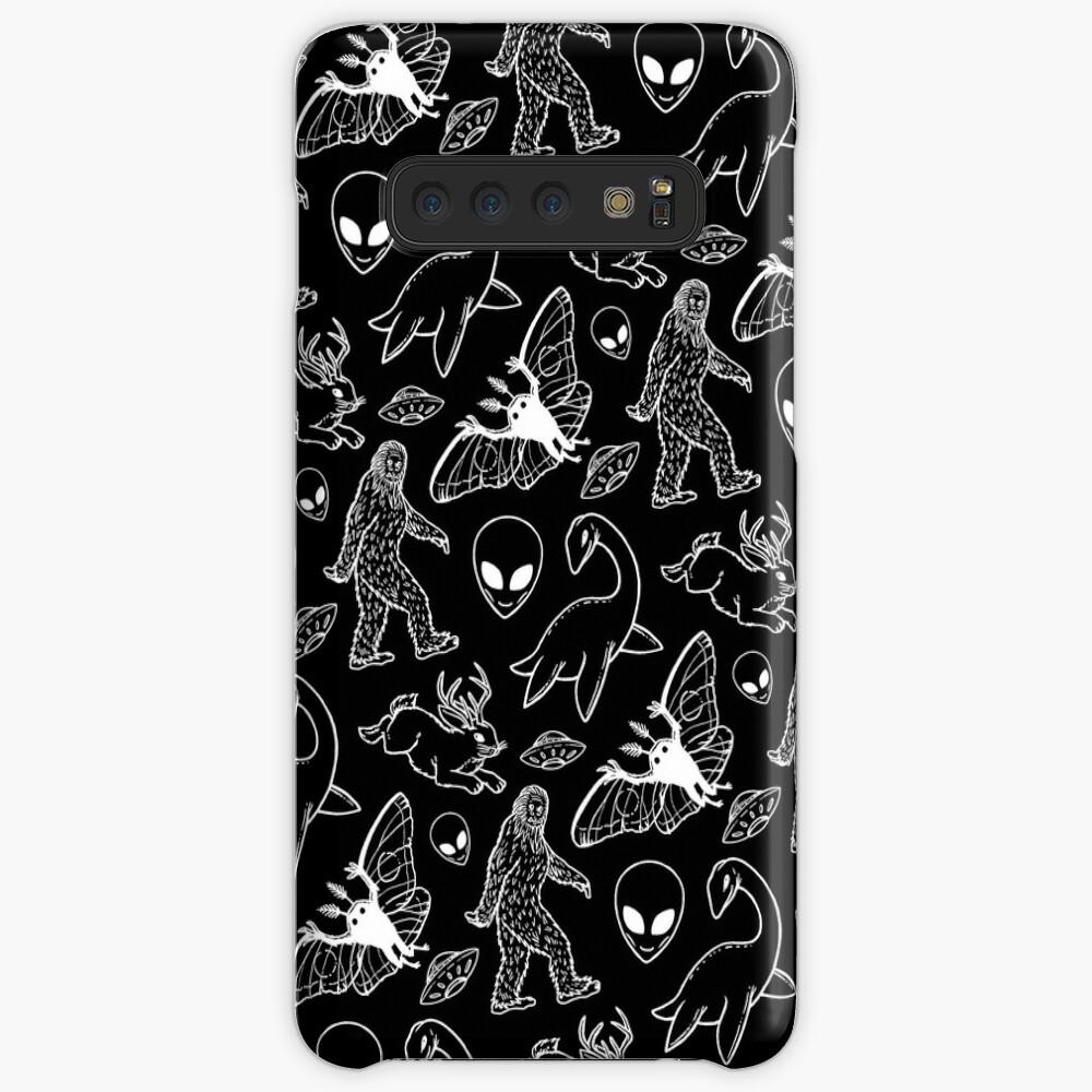 Cryptid Pattern (Black Background) Case & Skin for Samsung Galaxy