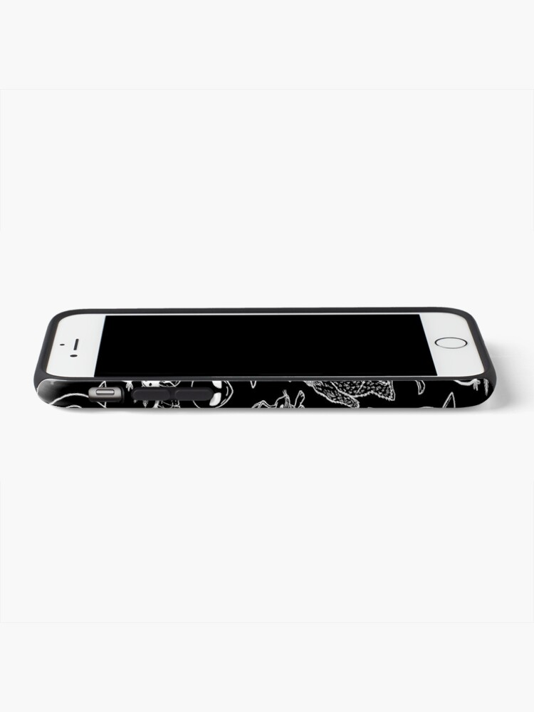 Alternate view of Cryptid Pattern (Black Background) iPhone Case & Cover