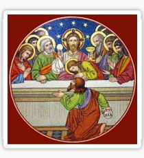 Last Supper Stained Glass Sticker