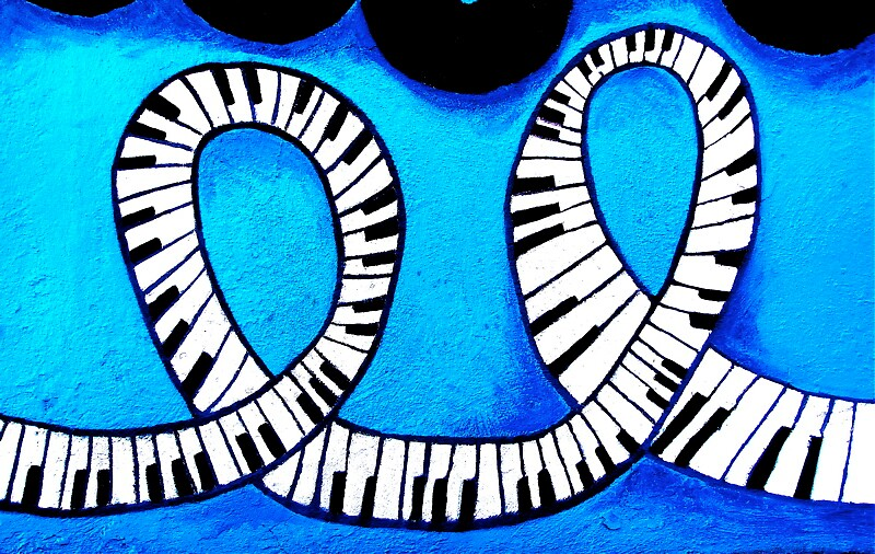 piano, blue by Ted Watson