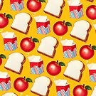 Lunch Pattern - Yellow by Kelly  Gilleran