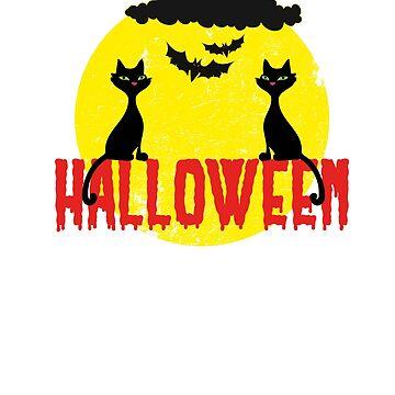 Halloween black cats by Dubbra