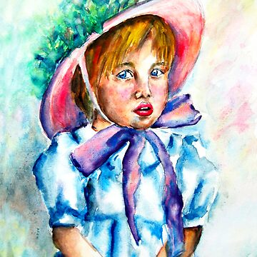 Little girl in water color by claudiaip