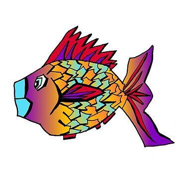 Graffiti Street Art Style Fish Doodle  by SharkaSplat