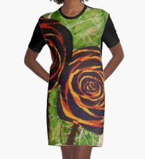 Rose in Fiore Graphic T-Shirt Dress