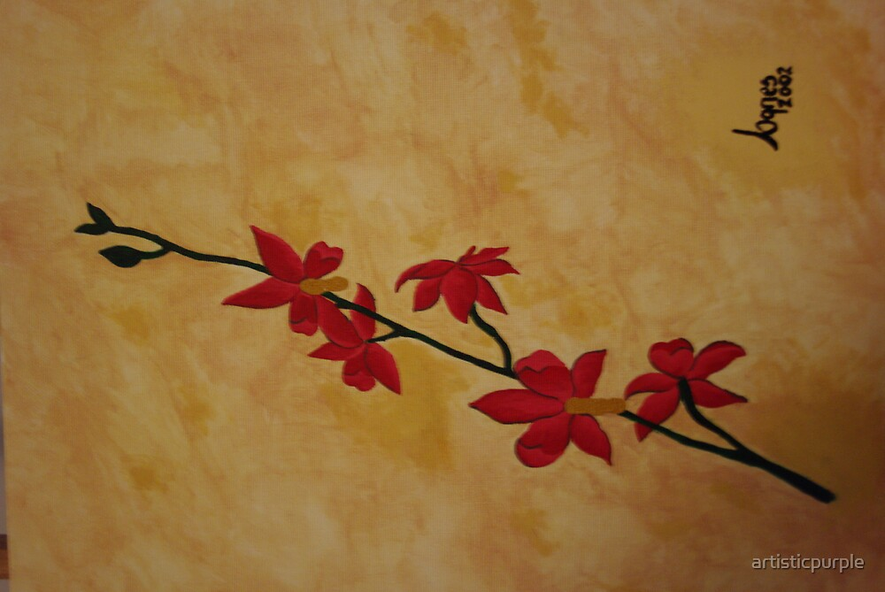 Red Orchids by artisticpurple