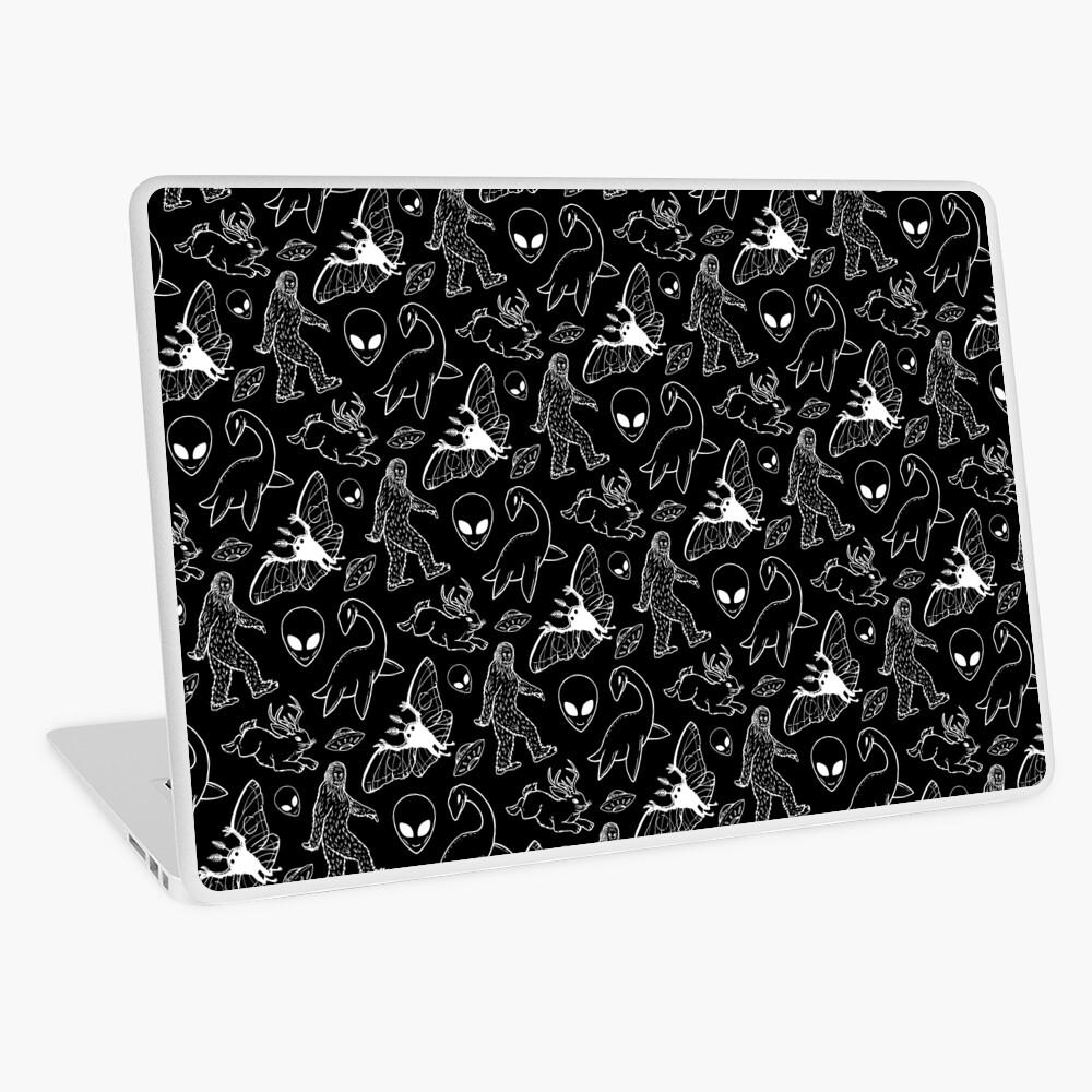 Cryptid Pattern (Black Background) Laptop Skin