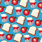 Lunch Pattern - Blue by Kelly  Gilleran