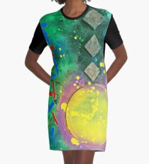 Japanese Abstraction Graphic T-Shirt Dress