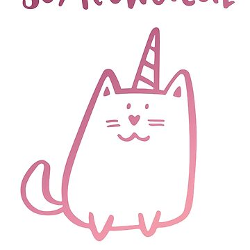 So Meowgical Cat Cats Meow Unicorn Bestseller Work by Manqoo