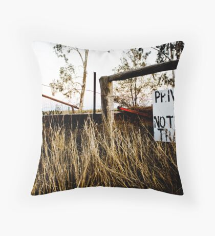 No Tresspassing Throw Pillow
