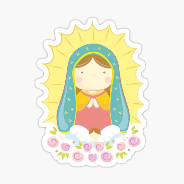 Ilustración Virgencita de Guadalupe Pegatina
