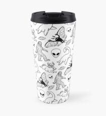 Cryptid Pattern (White Background)  Travel Mug