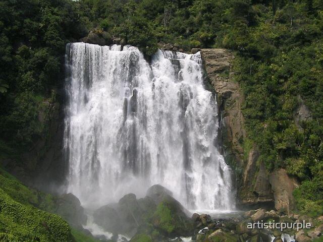Waterfall New Zealand by artisticpurple