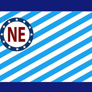 Northeast Nordeast NE Minneapolis MN Flag  by Keyma