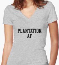 Plantation AF Women's Fitted V-Neck T-Shirt