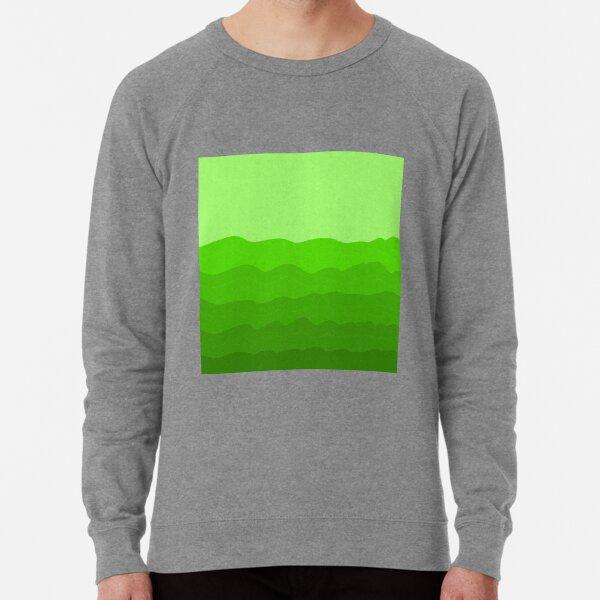 Beachy, sea, ocean, water, green, sea waves, waves Lightweight Sweatshirt