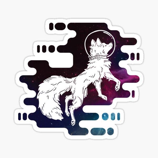 Cosmic Galaxy Space Fox Sticker