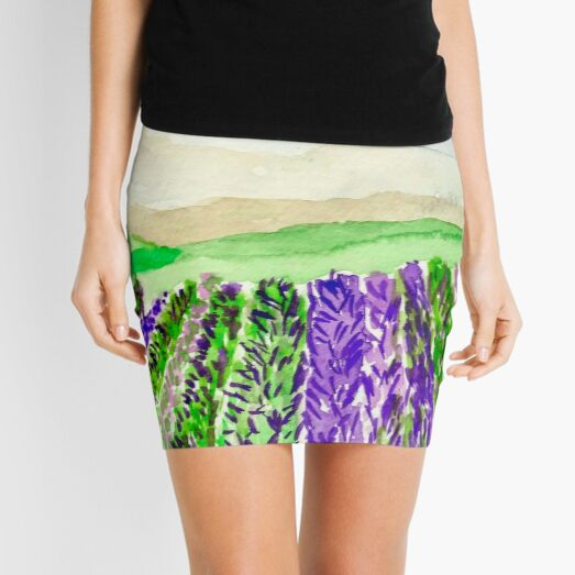 Lavender Fields  Mini Skirt