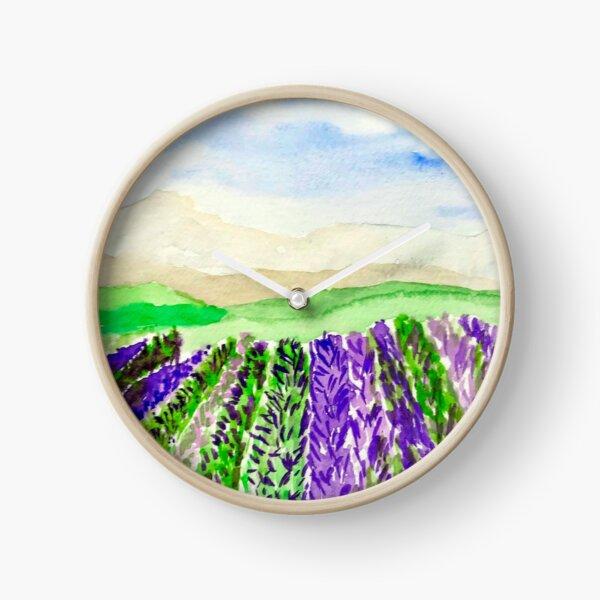 Lavender Fields  Clock