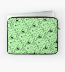 Cryptid Pattern (Green Background) Laptop Sleeve