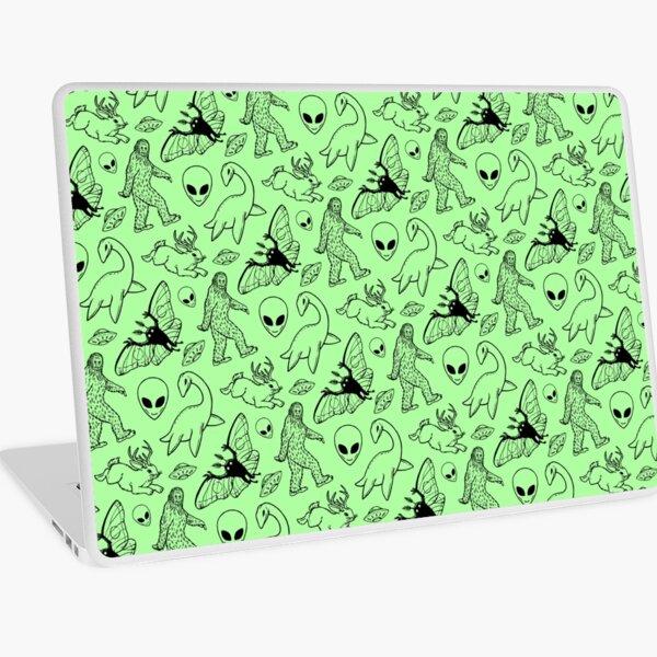 Cryptid Pattern (Green Background) Laptop Skin