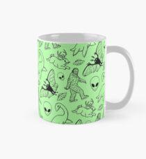 Cryptid Pattern (Green Background) Mug
