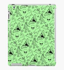 Cryptid Pattern (Green Background) iPad Case/Skin