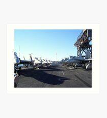 Fighter Jets USS Kitty Hawk Art Print
