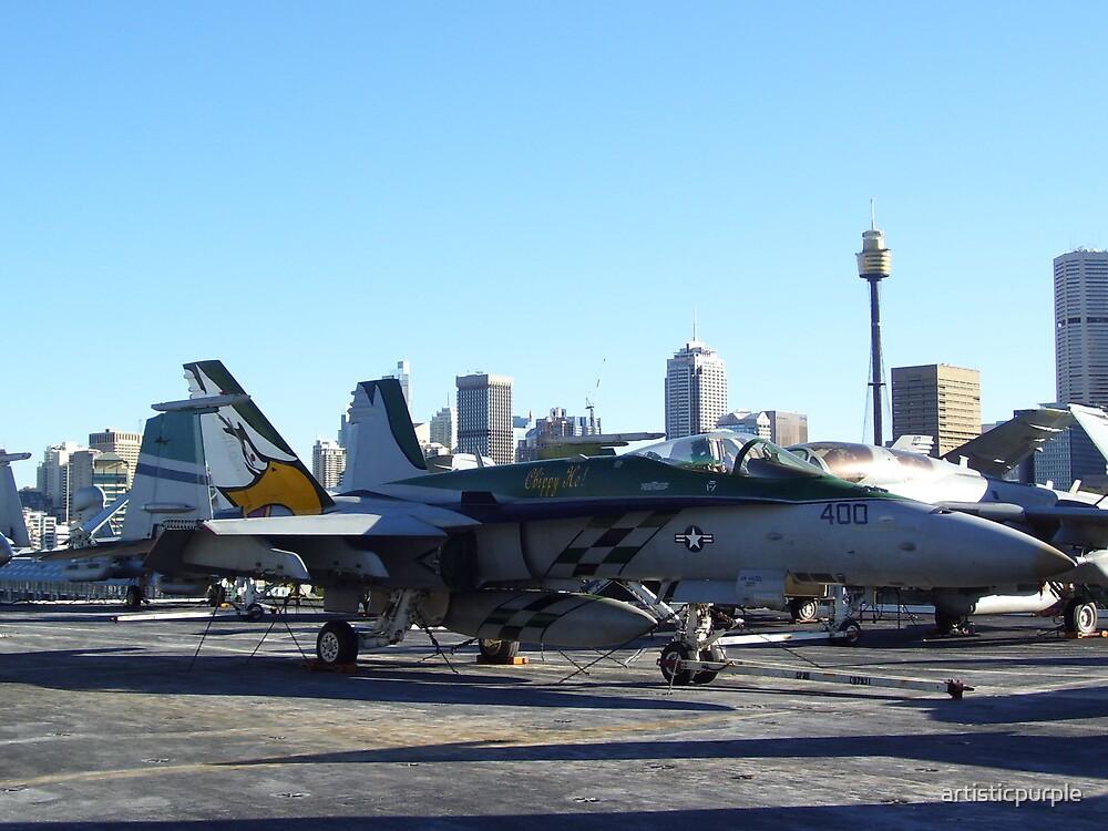 Fighter Jet USS Kitty Hawk Sydney by artisticpurple