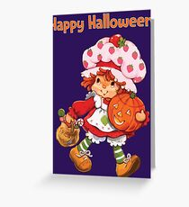 Strawberry Shortcake Retro 80s 1980s Halloween Trick or Treat Costume Greeting Card