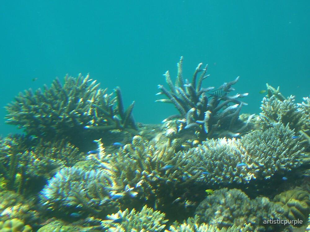 Great Barrier Reef Deep Blue by artisticpurple