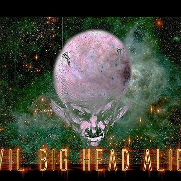Evil Big Head Alien Menace by DiabloNegro