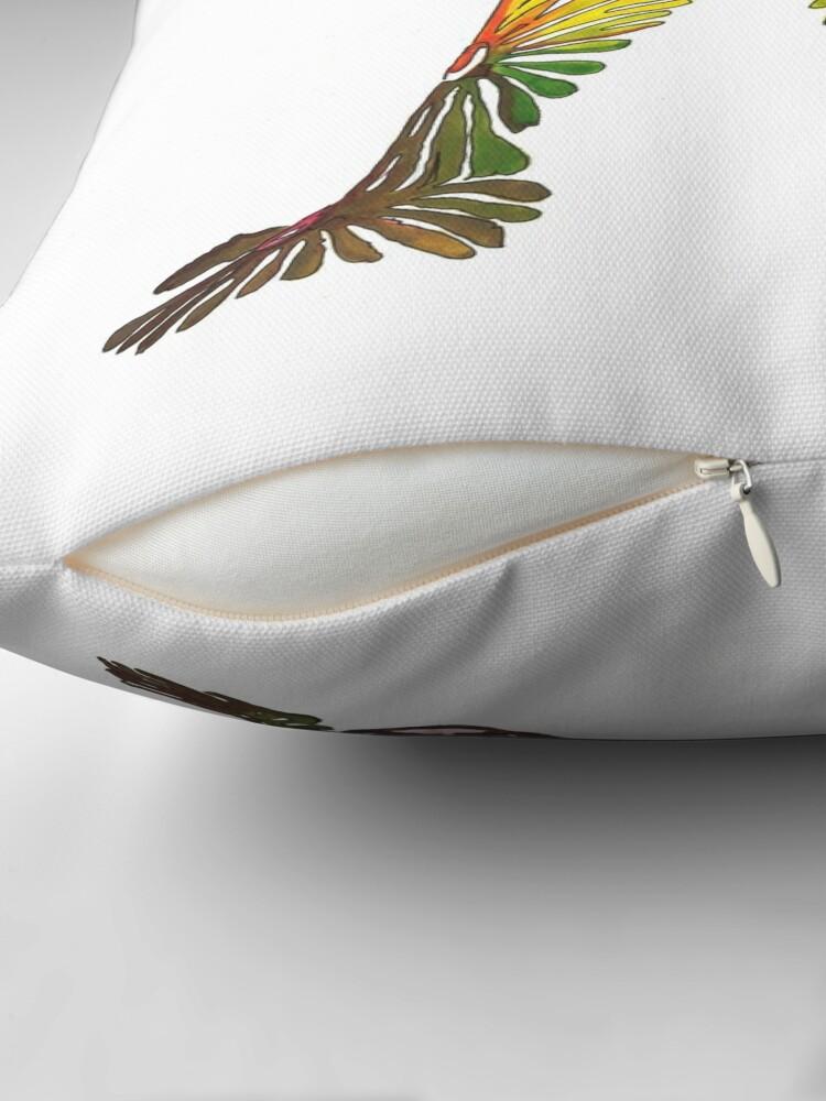 Alternate view of Flower child Throw Pillow