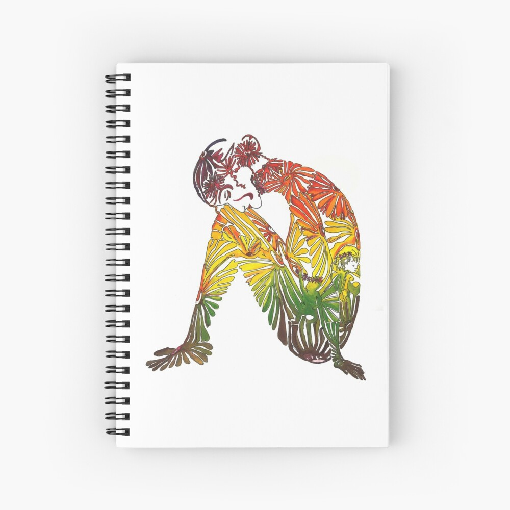 Flower child Spiral Notebook