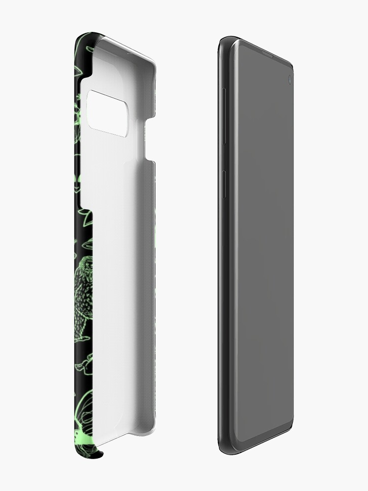 Alternate view of Cryptid Pattern (Green Lines) Case & Skin for Samsung Galaxy
