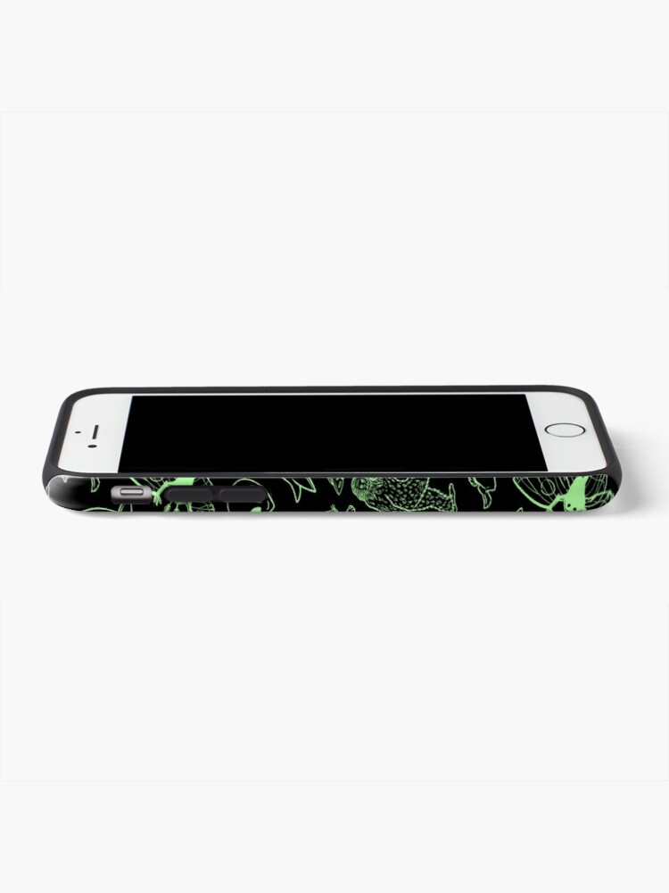 Alternate view of Cryptid Pattern (Green Lines) iPhone Case & Cover