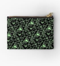 Cryptid Pattern (Green Lines) Studio Pouch