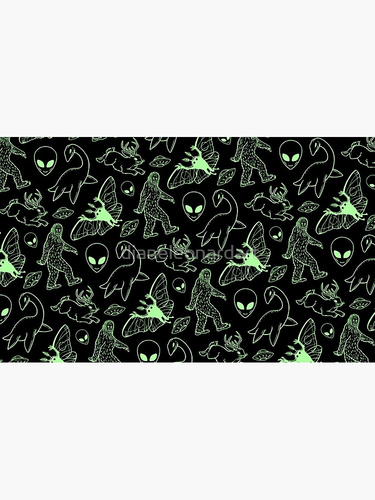 Cryptid Pattern (Green Lines) by dianeleonardart
