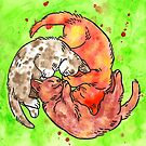 Watercolor Kitten Circle by HiddenStash