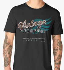 Vintage Forgery Dark: American Rock Band from Cleveland Men's Premium T-Shirt